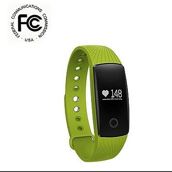 Fitness Tracker Pulsera Inteligente Monitor con Pulsómetro Pulsera Reloj Actividad Pulsera Smartband, Sueño, Notificación de SMS Deporte Pulseras ...