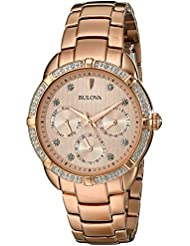 Bulova Womens 98R178 Multi-Function Dial Watch