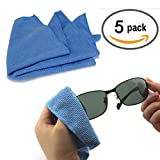 Best Eyeglass Cleaning Cloths - Microfiber Cleaning Cloths 15.5x13.5cm-For eyeglasses, sunglasses, camera lenses Review