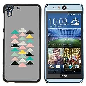 Eason Shop / Premium SLIM PC / Aliminium Casa Carcasa Funda Case Bandera Cover - Pirámide Arte Moderno Espiritual - For HTC Desire Eye ( M910x )