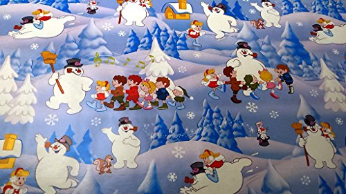 Christmas Wrapping Frosty the Snow Man Santa Hat Holiday Paper Gift Greetings 1 Roll Design Festive Wrap