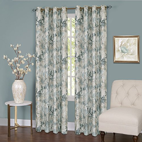 Lined Window Curtain Panel - Achim Home Furnishings Tranquil Lined Grommet Window Curtain Panel, 50