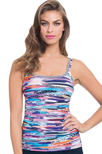 - Profile by Gottex Venice Beach Shirred Tankini Top Size 8