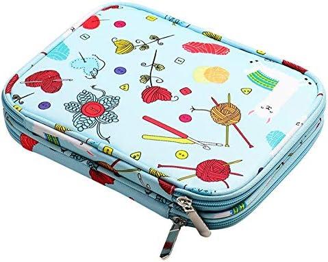 Cuasting - Estuche para agujas de tejer vacías y bolsa de almacenamiento de viaje para agujas de tejer circulares y accesorios: Amazon.es: Hogar