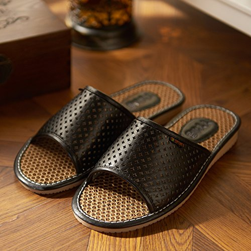 black slippers indoor men Summer and slippers floor women 40 41 zwP6nfxqpn