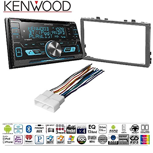 Kenwood DPX503BT Double DIN CD Bluetooth SiriusXM Car Stereo (Replaced DPX502BT) HD Radio HONK830 DIN Radio Installation Kit for '86-13 ()