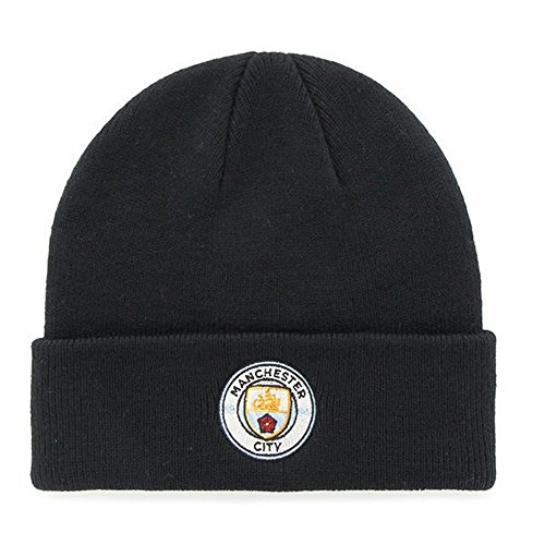 24cbae314ba Manchester City FC Adults Official Knitted Winter Football Soccer Crest Hat  (One Size)