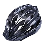 Adult Cycling Helmet,Adjustable 52-62cm Trinity Men Women Mountain Bike Helmet Safety Protection(Cool Black)