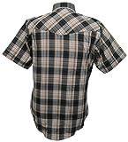 Ely Cattleman Short Sleeve Mens Tan Plaid Snap Western Shirt