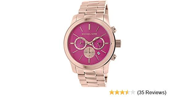 eead2babf41a Amazon.com  Michael Kors Women s Runway Rose Gold Vibrant Pink  Michael Kors   Watches