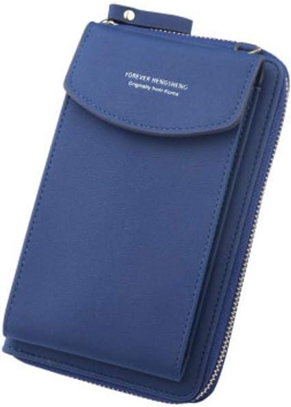 AliExpress - Bolso de mensajero para mujer, gran capacidad, con cierre y hebilla, de piel suave, versátil, para mujer, bolso de hombro, carteras, para mujer 0082 Azul Womens wallet: Amazon.es: Equipaje