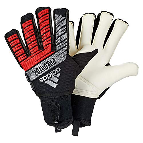 Adidas Fingersave Ultimate Glove - adidas Predator FINGERSAVE Ultimate 302 RE-Direct Pack Goalkeeper Gloves Black/Metallic Silver