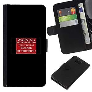 All Phone Most Case / Oferta Especial Cáscara Funda de cuero Monedero Cubierta de proteccion Caso / Wallet Case for Samsung ALPHA G850 // Warning beware