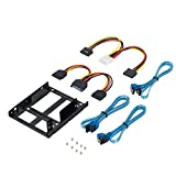 SSD Bracket, ShineKee 2x 2.5 Inch SSD to 3.5 Inch Internal Hard Disk Drive Mounting Kit Bracket, Included 3 Third Generation Sata Cable