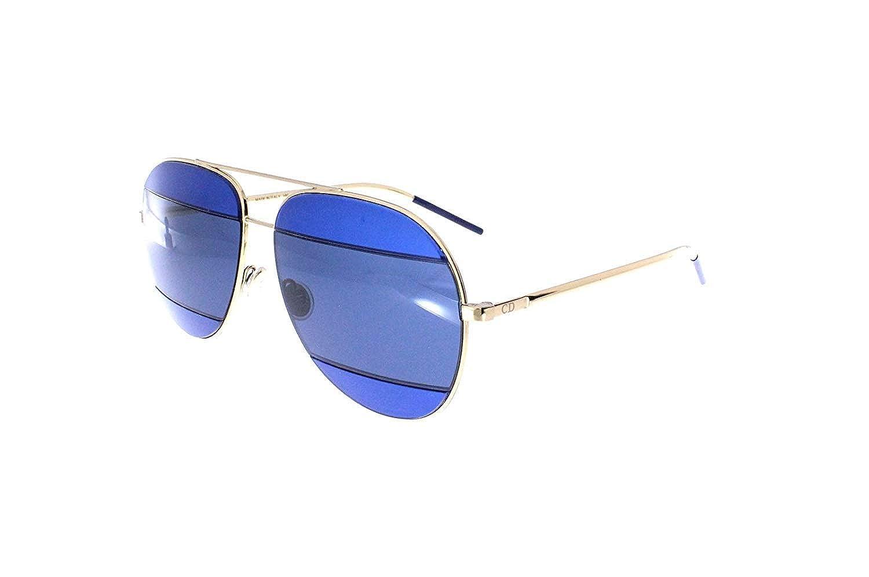 9c7433d35059 Dior 000KU Rose Gold   Blue DiorSplit2 Aviator Sunglasses at Amazon Men s  Clothing store