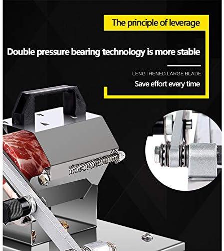 LKDF Vlees blok snijmachine, handmatige vleessnijder bevroren vleessnijder voor rundvlees Roll schapenvlees Roll kaas groente segment