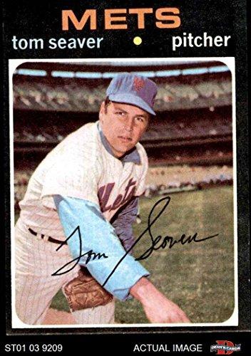 1971 Topps Baseball (1971 Topps # 160 Tom Seaver New York Mets (Baseball Card) Dean's Cards 5 - EX Mets)