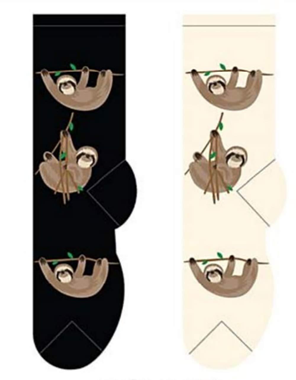 Foozys Women's Crew Socks | Cute Zoo Animal Themed Novelty Socks | 2 Pairs -