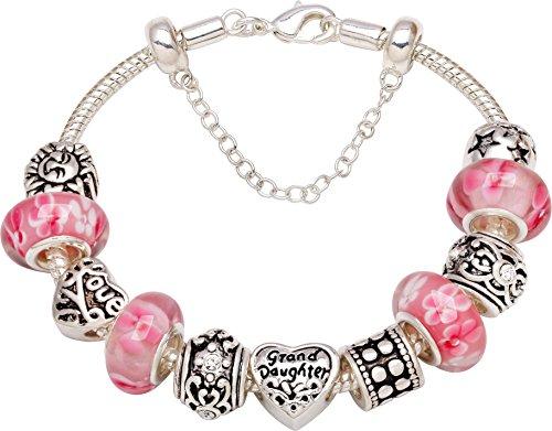 Grandaughter Bead Charm Bracelet Christmas