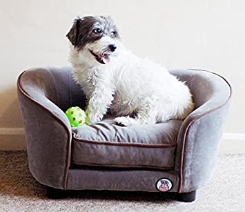 Fine Millies Ultimate Luxury Grey Faux Micro Suede Dog Bed Cat Pet Sofa Luxury Comfort For Your Pet Interior Design Ideas Helimdqseriescom