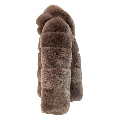 Amazon.com: Hunzed women coat Warm Faux Fur Short Comfortable Coat Autumn and Winter Hooded Jacket (XX-Large, Navy): Garden & Outdoor