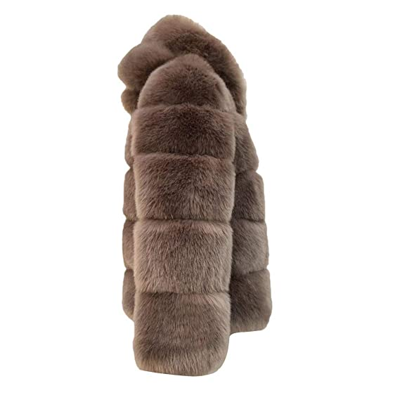 Amazon.com: IG Back Sale Women Mink Coats Winter Hooded New Faux Fur Jacket Warm Thick Outerwear Jacket: Sports & Outdoors