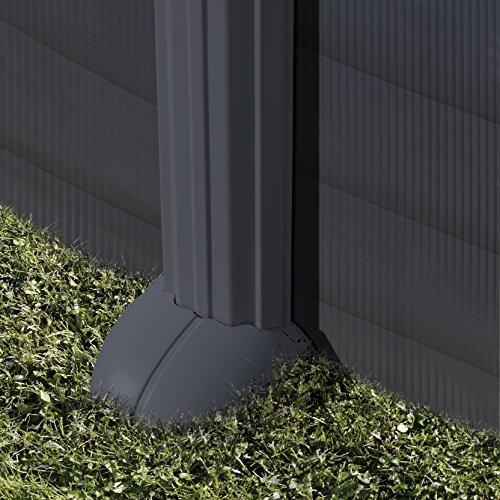 Piscina desmontable Gre Granada ovalada Grafito - 610 x 375 cm ...