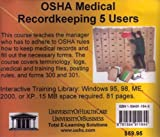 OSHA Medical Recordkeeping, 5 Users, Farb, Daniel and Gordon, Bruce, 1594911649
