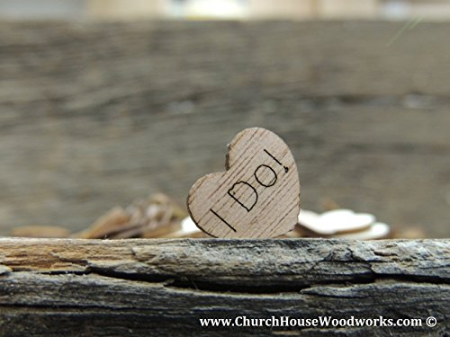 100 TINY I Do Wooden Hearts - Wood Table Confetti, Embellishments, Scatters, Invitations, Table Decor, Rustic Weddings and Events