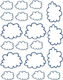 Clouds repositionable and removable sticker decal vinyl nursery wall decor