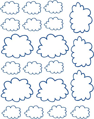 Clouds repositionable and removable sticker decal vinyl nursery wall decor by Simple Expressions Arts