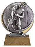 Etch Workz Tennis Awards - Tennis Trophy Male 5'' Tall - Engraved & Personalized Free, Tennis Trophies And Awards