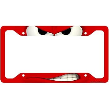 Amazon.com: Airstrike Funny License Plate Frame, Smirk Car Tag Frame ...