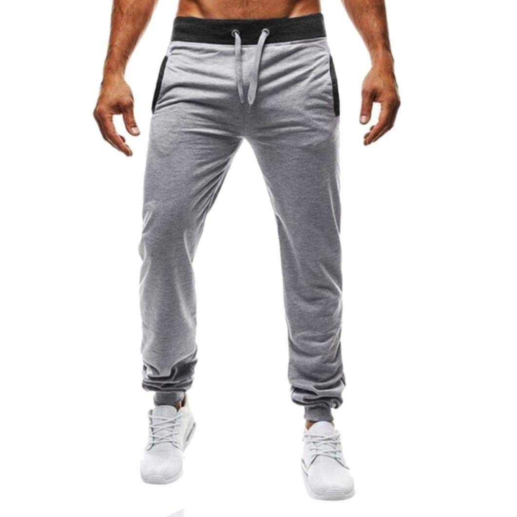 Realdo Hot!Clearance Sale Mens Daily Sport Fitness Elastic Stretchy Bodybuilding Bermuda Sweatpants Jogger Pants(XX-Large,Gray)