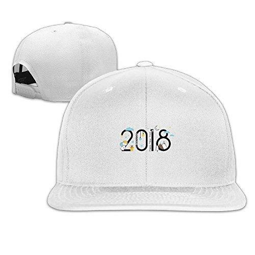Bhnrtgyhert Novelty Adult Interesting 2018 Classic Cotton Hat Adjustable Plain Cap White