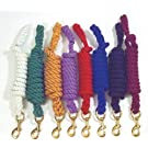 Roma Cotton Leadrope with 1 Inch Clip - Brass
