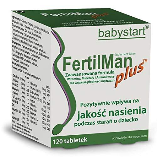Babystart Fertil Man Plus Sperm Support - Pack of 120 Capsules by Babystart Babystart Ltd BSFMP