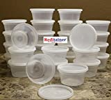 10 oz food container - Reditainer - 12 Ounce Deli Food Saver/Meal Prep Containers - Package of 40