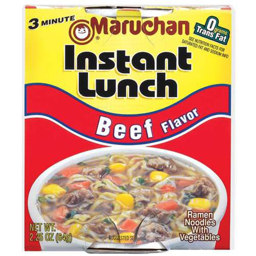 Maruchan BEEF FLAVOR Instant Lunch 2.25oz (24 pack) ()