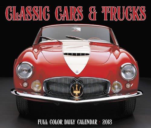 2018 Classic Cars and Trucks Daily Desktop Box Calendar {jg} Great Holiday Gift Ideas - for mom, dad, sister, brother, grandparents, gay, lgbtq, grandchildren, grandma.