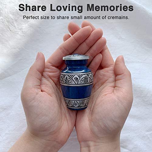 Adera Dreams Small Urns for Human Ashes Keepsake - Set of 4