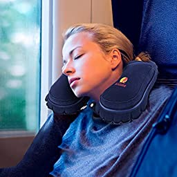 Andake Inflatable Pillow Suitable as Travel Pillow, Neck pillow, Best Pillow for Supporting Neck while Travelling, Car Driving, Office Napping and Working at Computer-a Great Gift for Friends