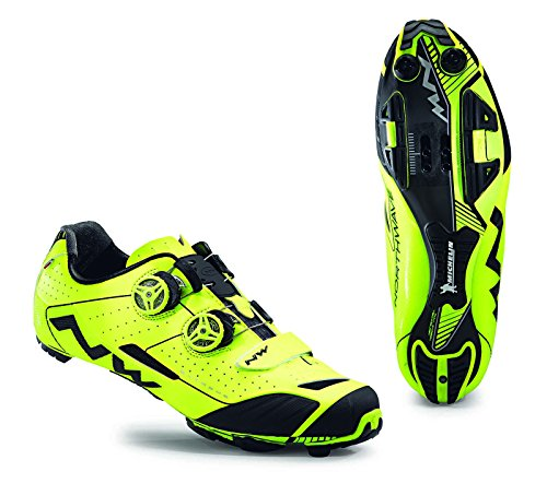 Northwave 2016 Men's Extreme XC Mountain Cycling Shoes - Yellow Fluorescent (Yellow Fluorescent - 42)