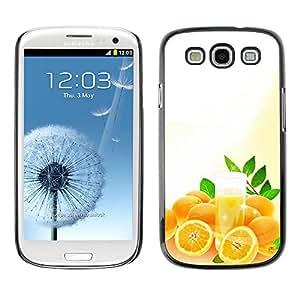 Smartphone Rígido Protección única Imagen Carcasa Funda Tapa Skin Case Para Samsung Galaxy S3 I9300 Fruit Macro Oranges / STRONG