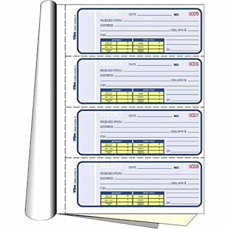 amazon com tops business forms manifold receipt book carbonless