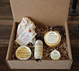 Summertime Essentials, Mosquito And Insect Repellent, calendula salve, Aloe Soap, Insect repellent soap on a rope and Peppermint lip balm.