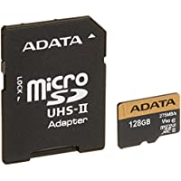 ADATA Premier ONE 128GB SDXC UHS-II U3 Class10 V90 3D NAND 4K 8K Ultra HD 275MB/s Micro SD Card with Adapter (AUSDX128GUII3CL10-CA1)