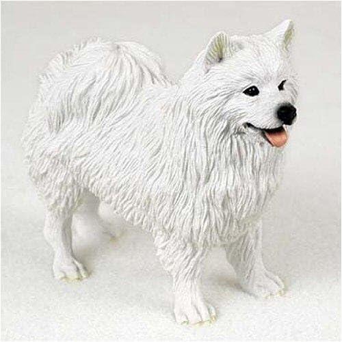 AMERICAN ESKIMO DOG Figurine Statue Hand Painted Resin Gift Pet Lovers
