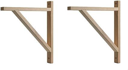 IKEA EKBY VALTER - Soporte de madera para autocaravanas, profundidad de 28 cm (X2) (abedul)