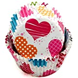 Chef Craft 50 Count Cupcake Liners, One Size, Red/Orange/Yellow/Pink/Blue